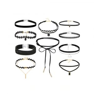 M0344 black1 Necklaces Chokers Jewelry Sets maureens.com boutique
