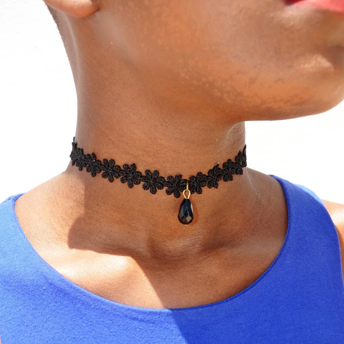 M0344 black10 Necklaces Chokers Jewelry Sets maureens.com boutique