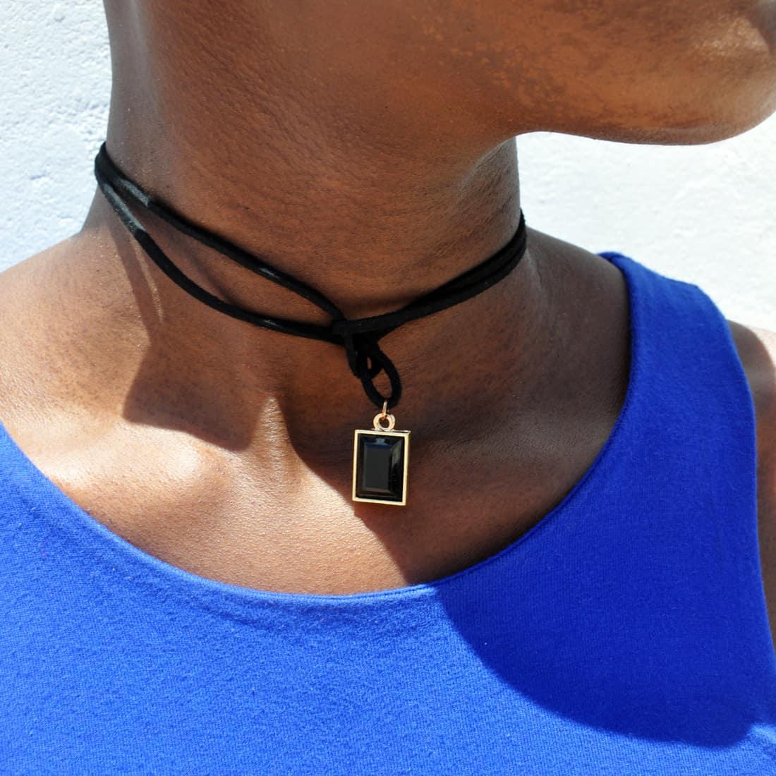 M0344 black11 Necklaces Chokers Jewelry Sets maureens.com boutique