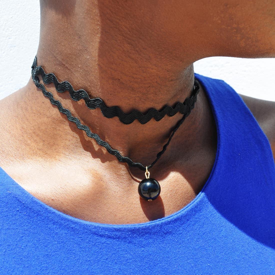 M0344 black17 Necklaces Chokers Jewelry Sets maureens.com boutique