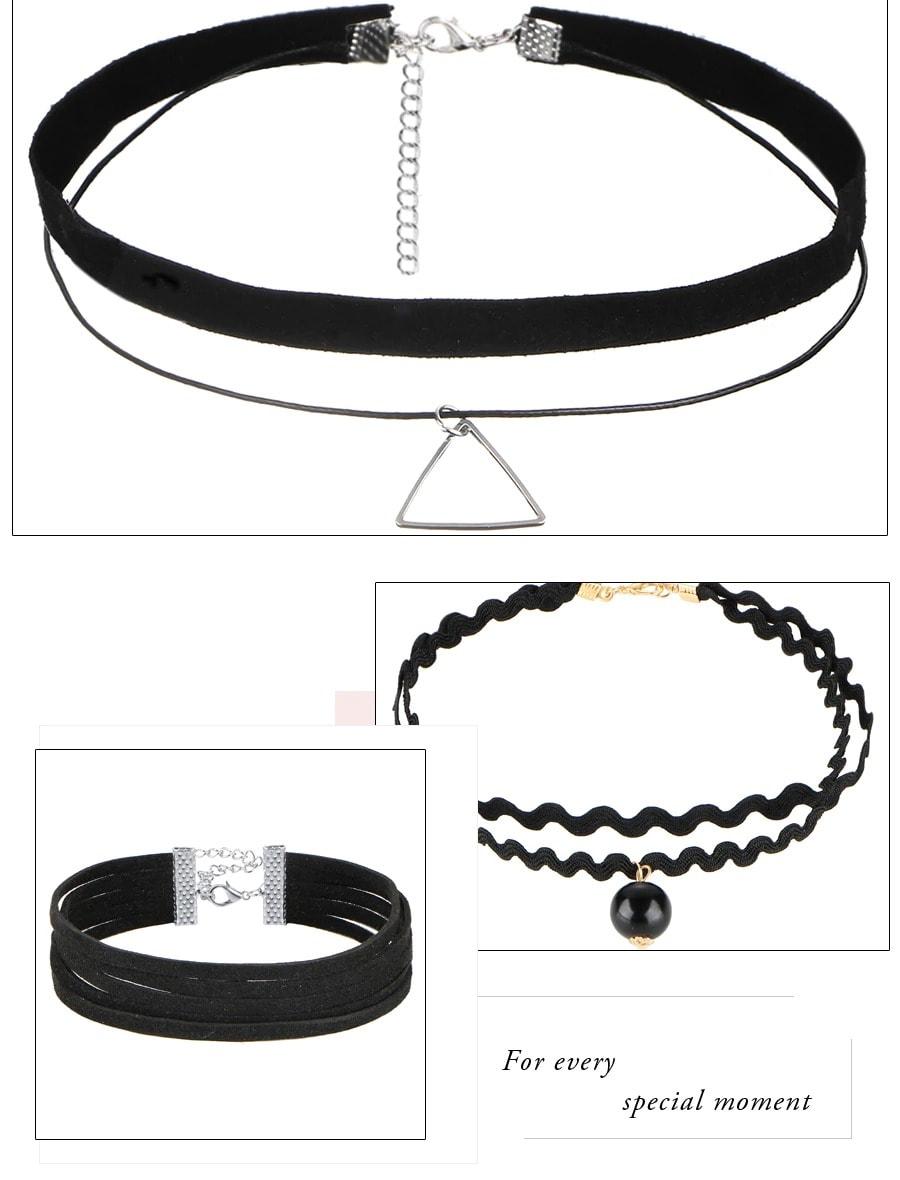 M0344 black3 Necklaces Chokers Jewelry Sets maureens.com boutique
