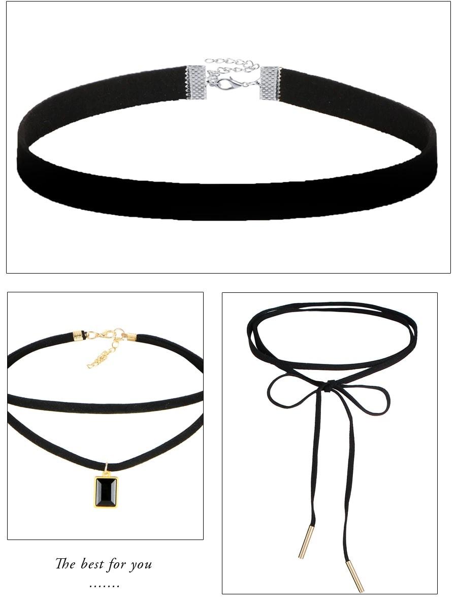 M0344 black4 Necklaces Chokers Jewelry Sets maureens.com boutique