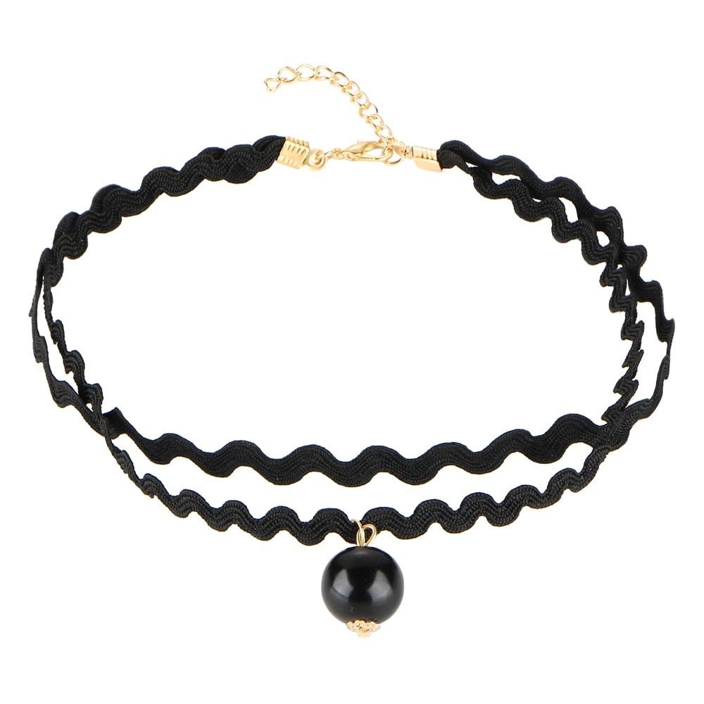 M0344 black5 Necklaces Chokers Jewelry Sets maureens.com boutique