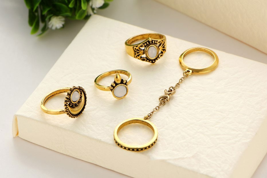 M0345 gold3 Jewelry Sets Rings maureens.com boutique