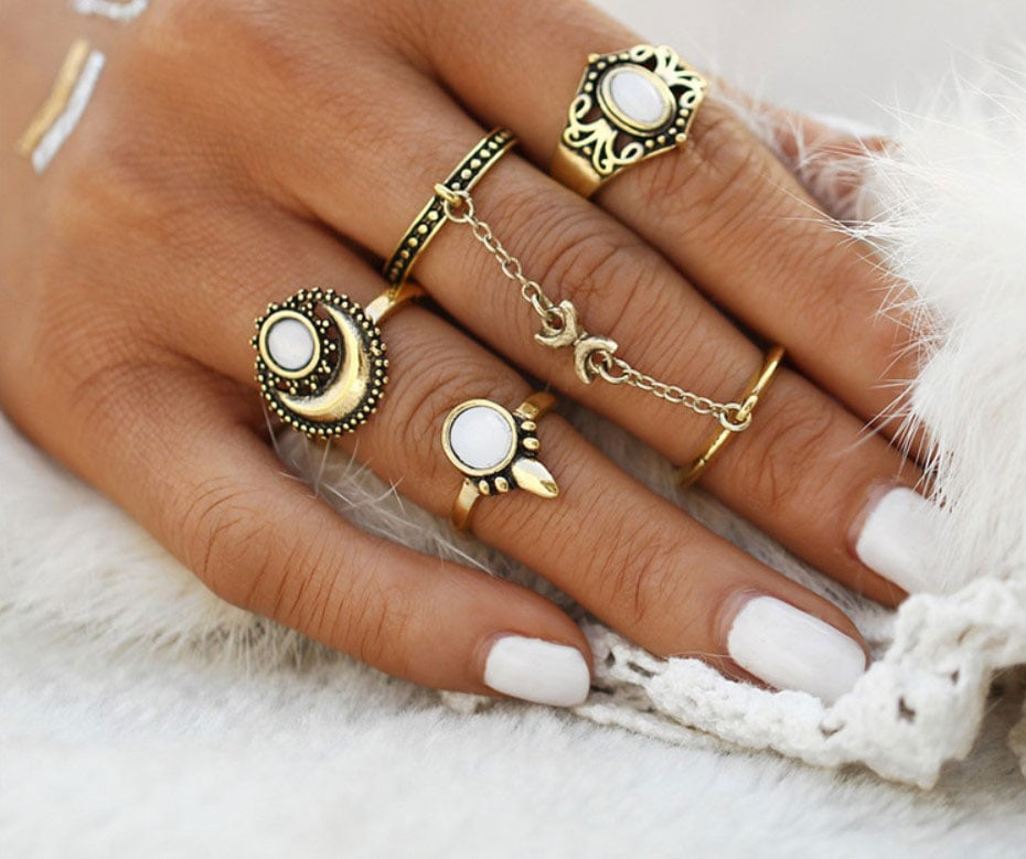 M0345 gold5 Jewelry Sets Rings maureens.com boutique