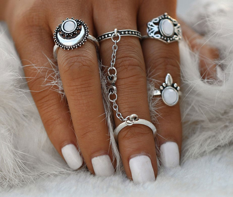M0345 silver4 Jewelry Sets Rings maureens.com boutique
