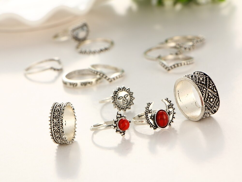 M0346 silver5 Jewelry Sets Rings maureens.com boutique