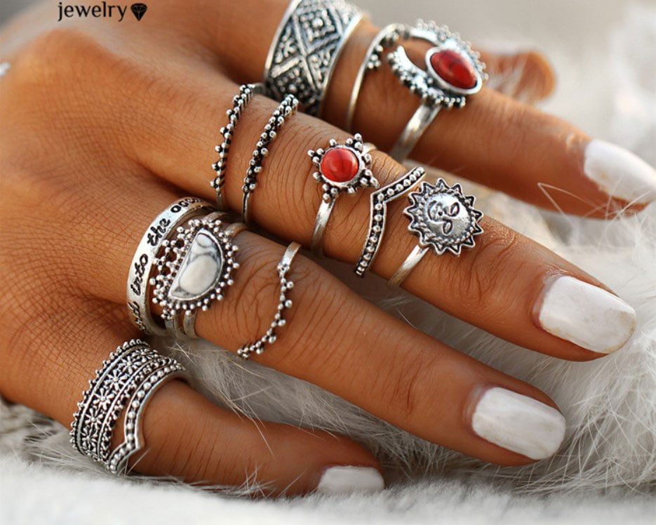 M0346 silver7 Jewelry Sets Rings maureens.com boutique
