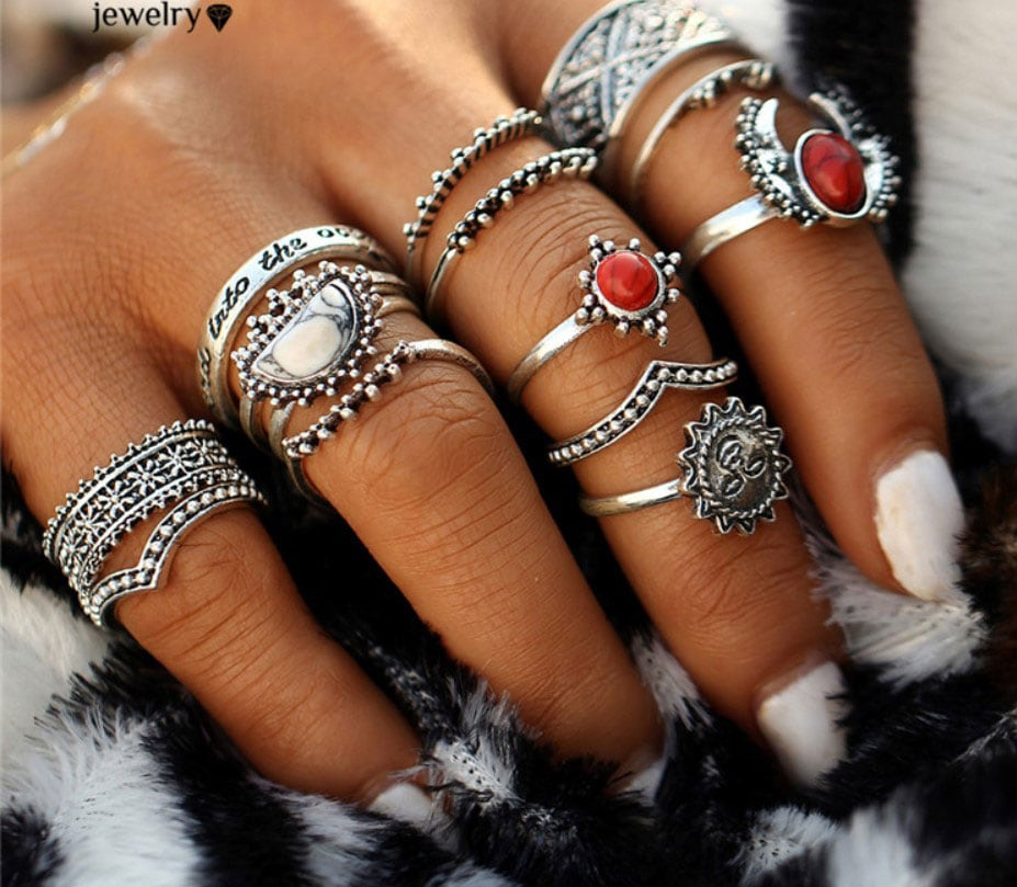 M0346 silver8 Jewelry Sets Rings maureens.com boutique