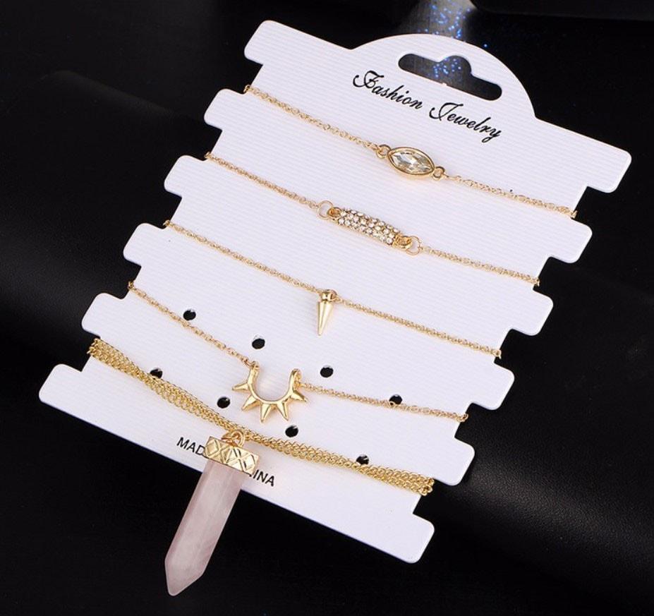 M0347 gold1 Jewelry Sets Necklaces Chokers maureens.com boutique