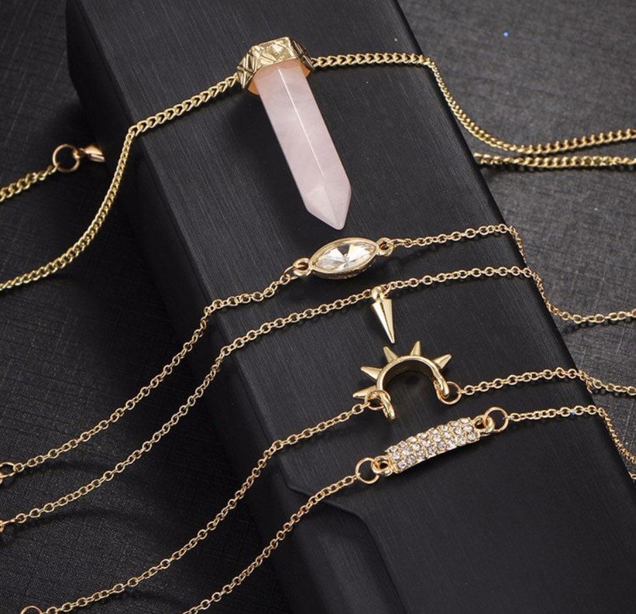 M0347 gold3 Jewelry Sets Necklaces Chokers maureens.com boutique