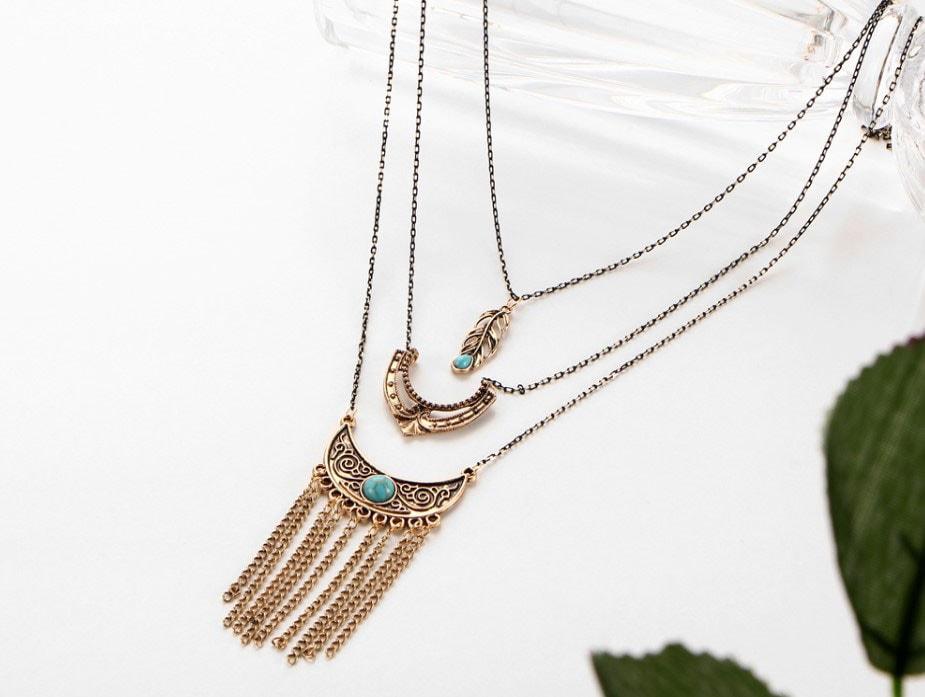 M0348 antique4 Jewelry Accessories Necklaces Chokers maureens.com boutique