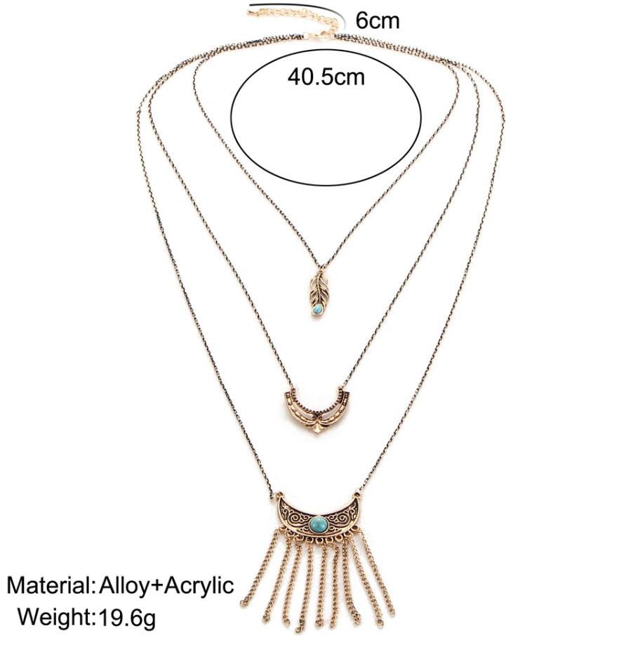 M0348 antique7 Jewelry Accessories Necklaces Chokers maureens.com boutique