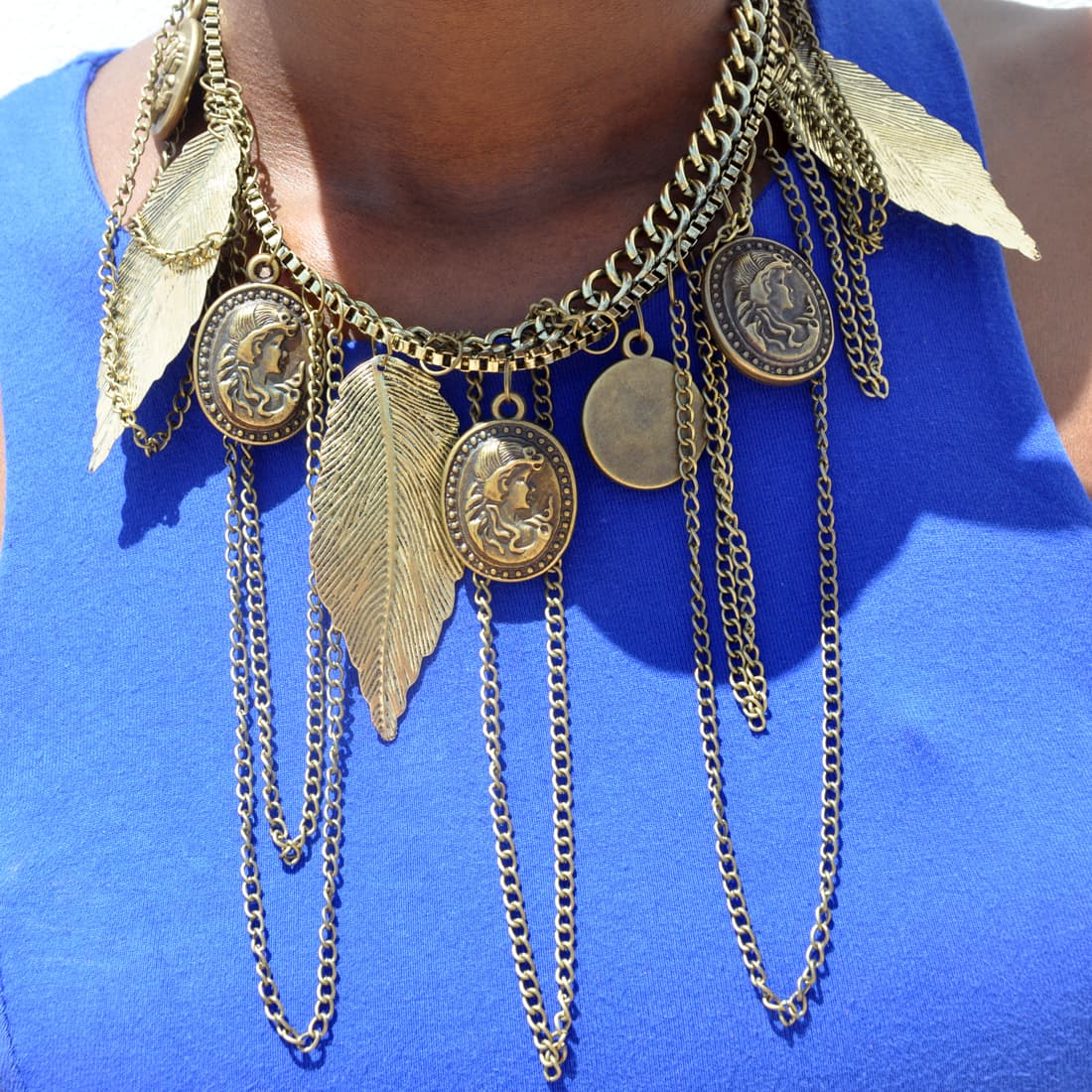 M0349 antique5 Jewelry Accessories Necklaces Chokers maureens.com boutique